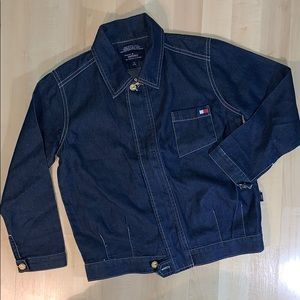 TOMMY JEANS/HILFIGER RETRO Dressy Denim Zip Jacket